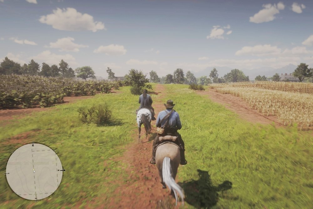 A lomos del caballo en Red Dead Redemption 2
