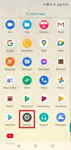 Abre los ajustes de tu Android