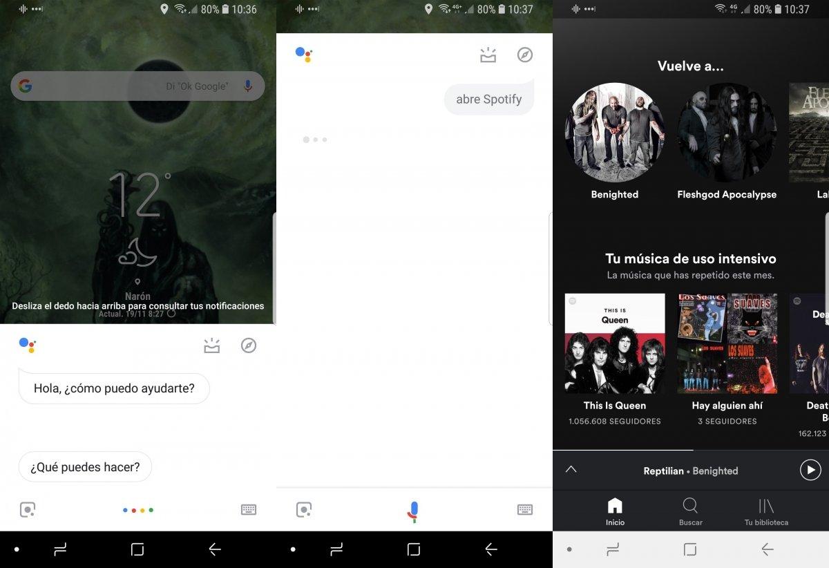 Abriendo una app con Ok Google