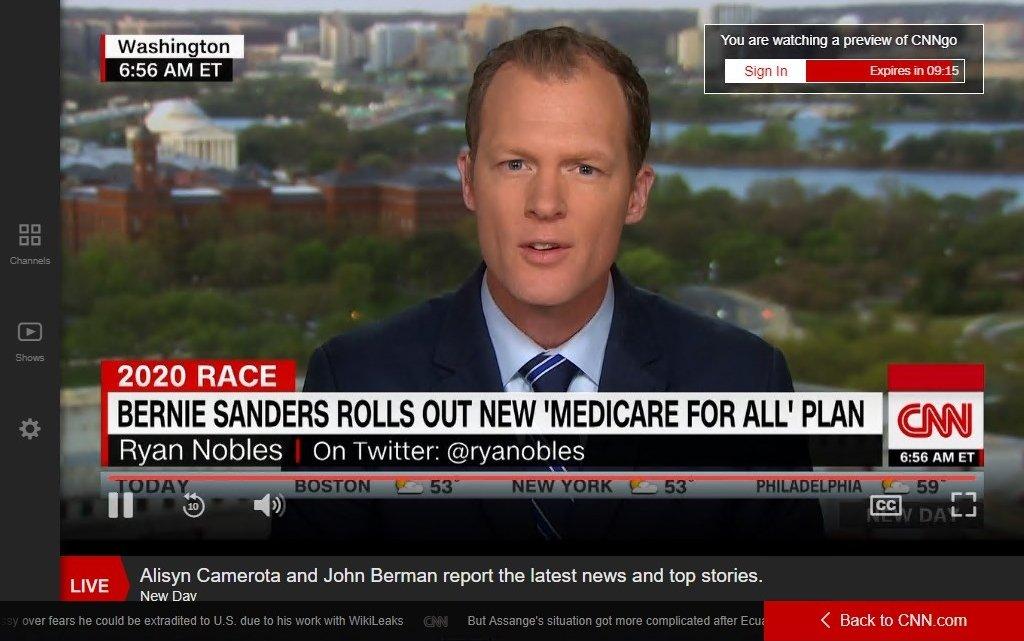 Acceso a CNN mediante VPN