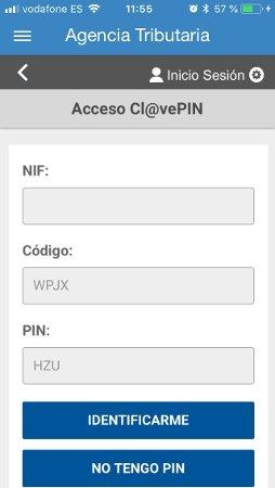 Acceso a la app de Hacienda mediante Clave PIN