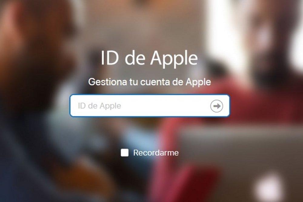 Acceso a la web de Apple con tu ID de usuario