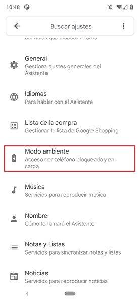 Acceso a los ajustes del Asistente de Google