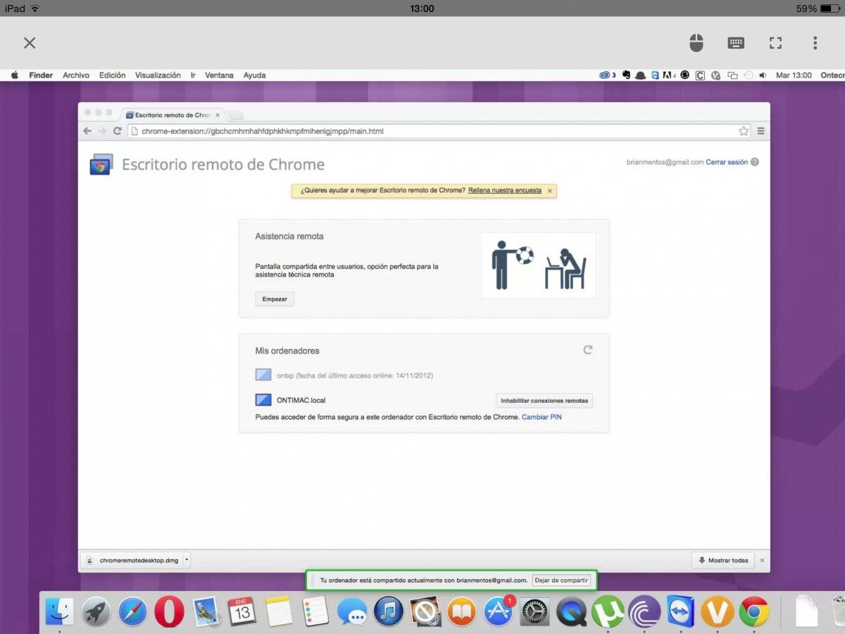 Acceso remoto a tu PC desde iOS paso a paso con Chrome Remote Desktop - imagen 12