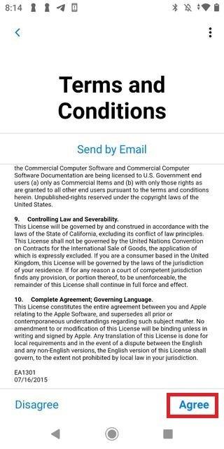 Aceptar los términos y condiciones