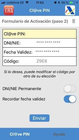 Activación de la app Clave PIN
