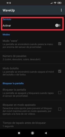 Activación de WaveUp