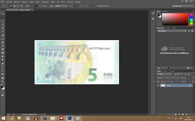Ahora sí es posible abrir una imagen de un billete en Photoshop