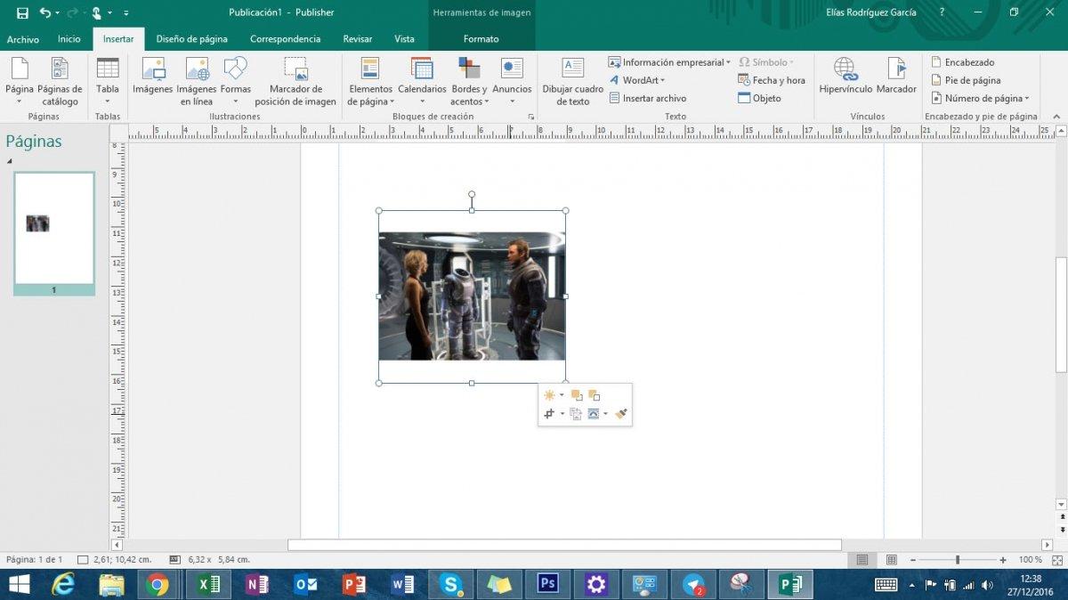 Ajustar imagen Microsoft Publisher