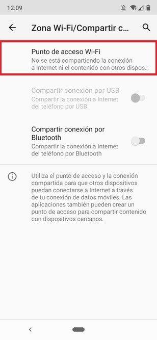 Ajustes del punto de acceso WiFi