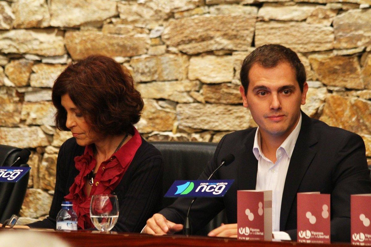 Albert Rivera, de Ciudadanos, en una conferencia