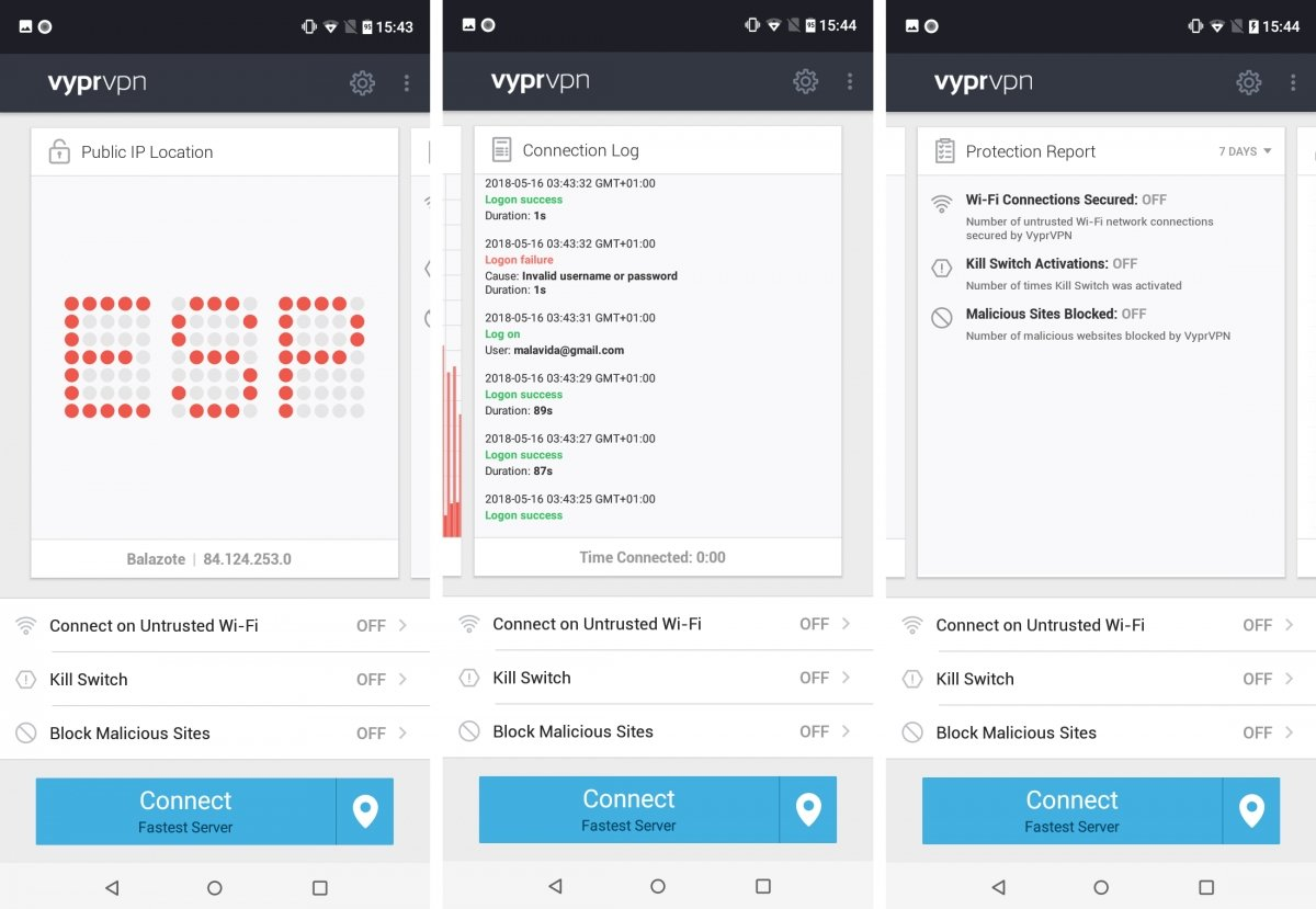 Algunas opciones de Vypr VPN