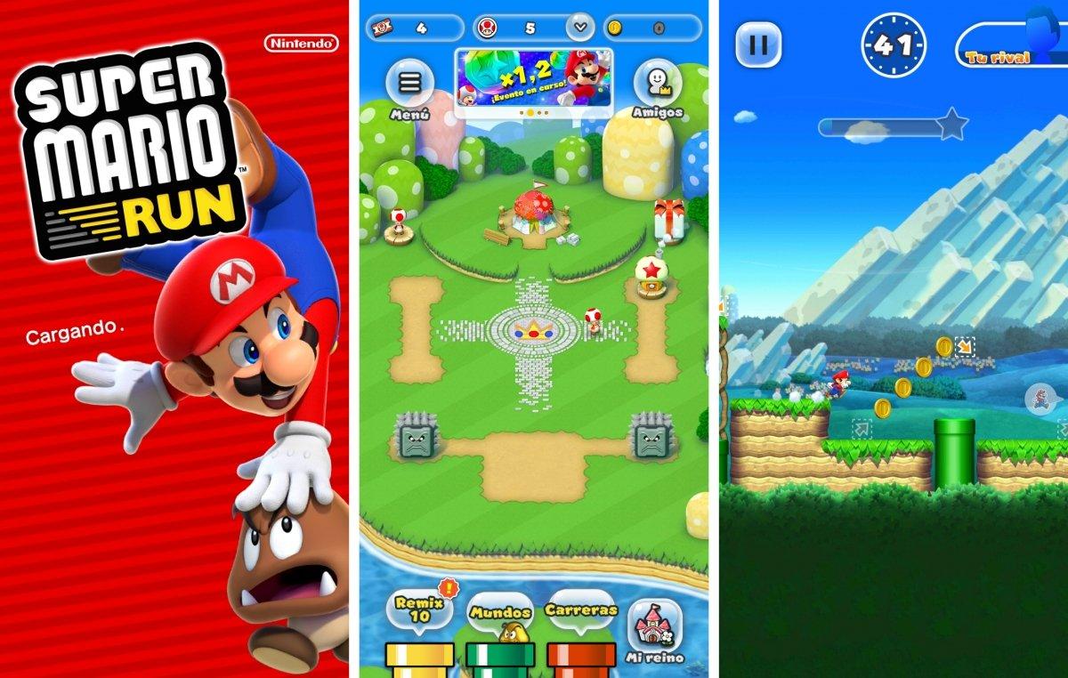 Algunas pantallas de Super Mario Run