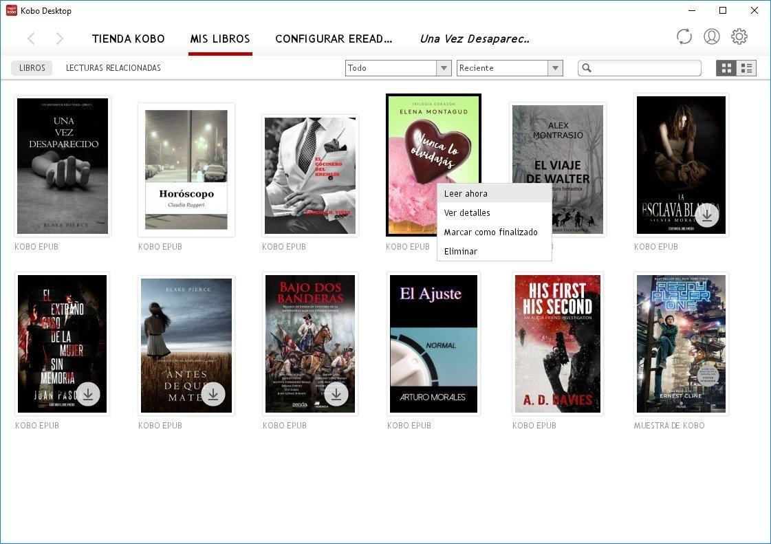 Algunos libros gratuitos en Kobo