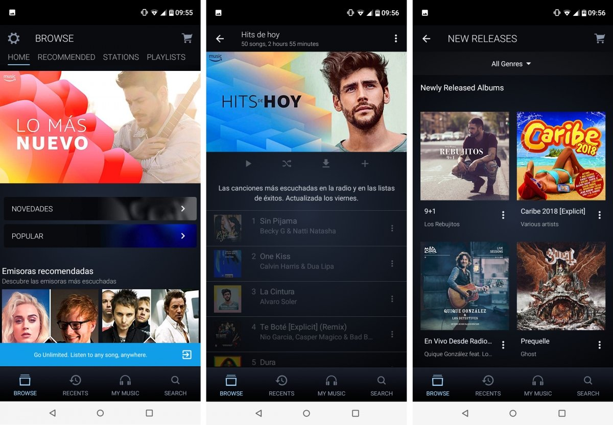 Amazon Music ofrece música en streaming