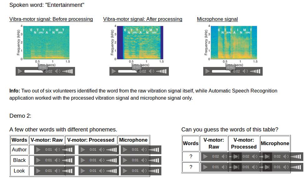 Amplificando el voltaje emitido por el motor se puede llegar a reconocer el sonido original