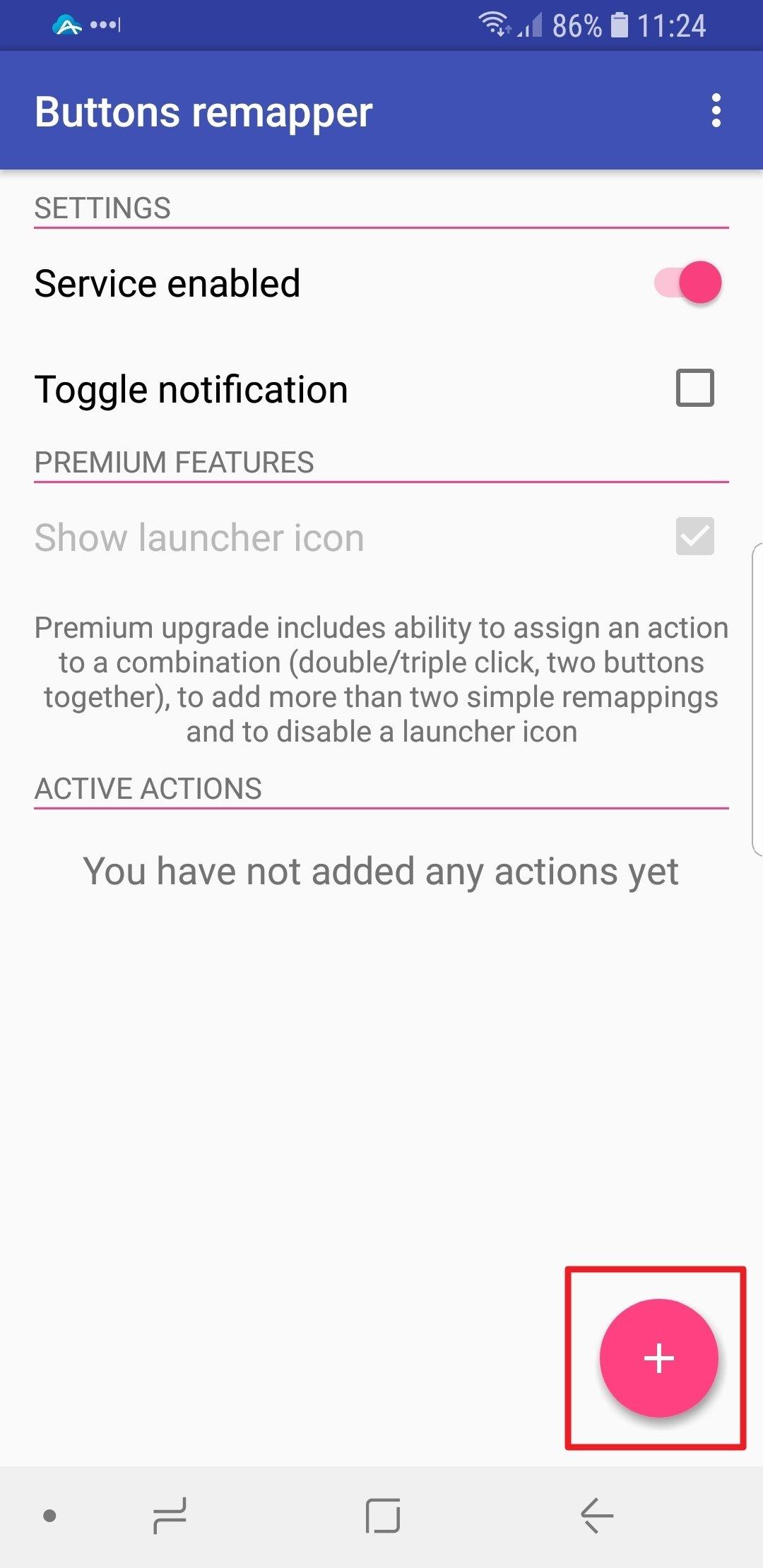 Añadiendo un botón personalizado en Buttons Remapper