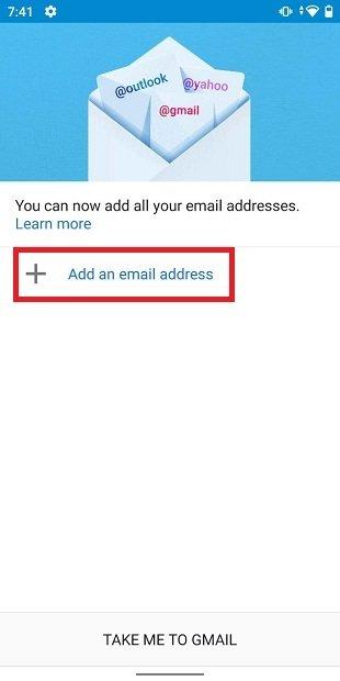 Añadir nueva cuenta a Gmail