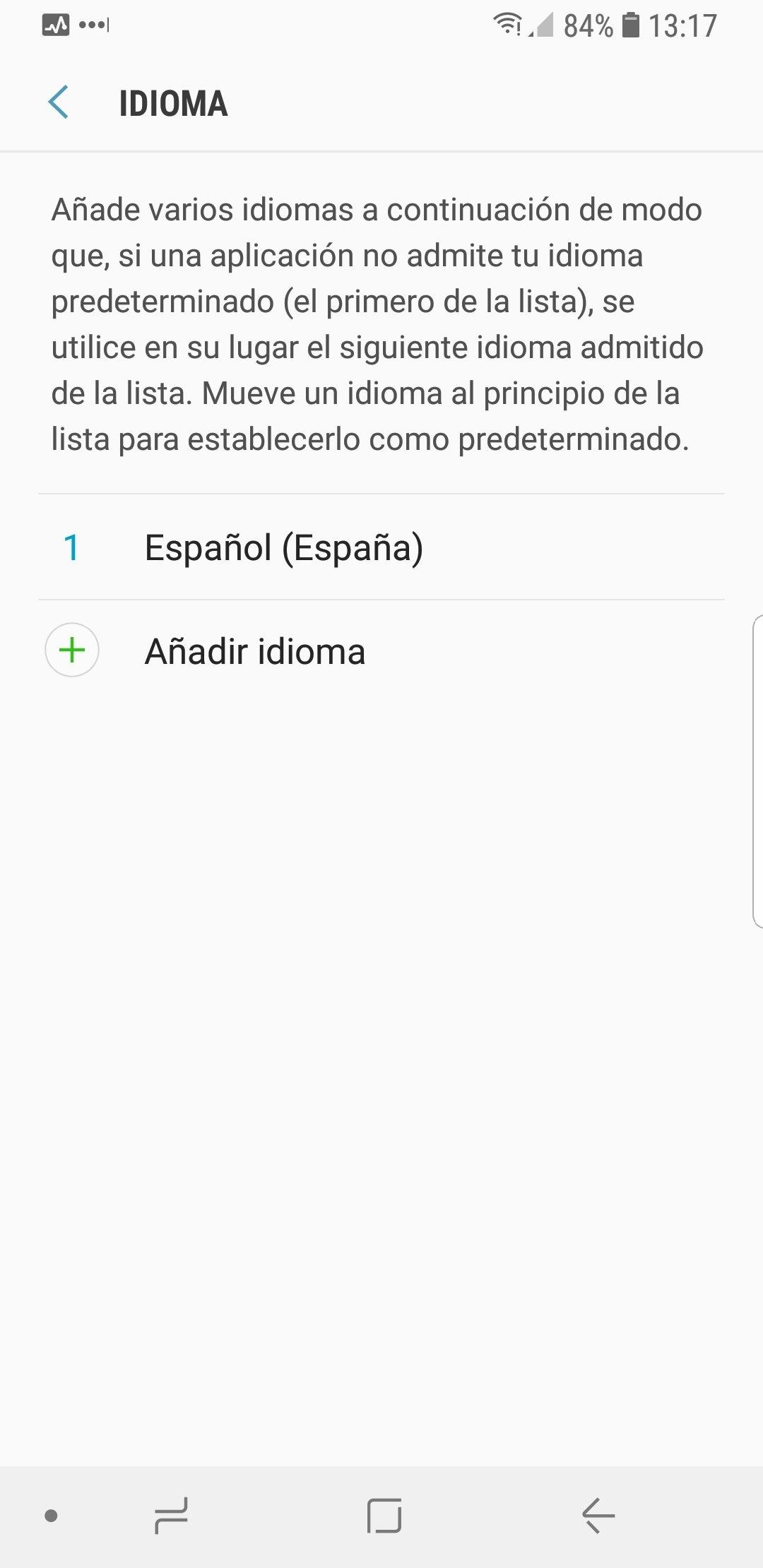 Añadir un idioma nuevo a Android
