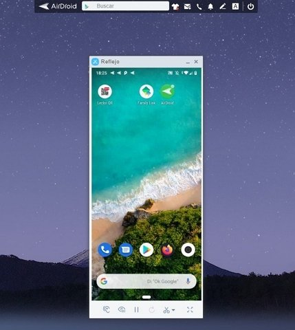 Android reflejado en AirDroid