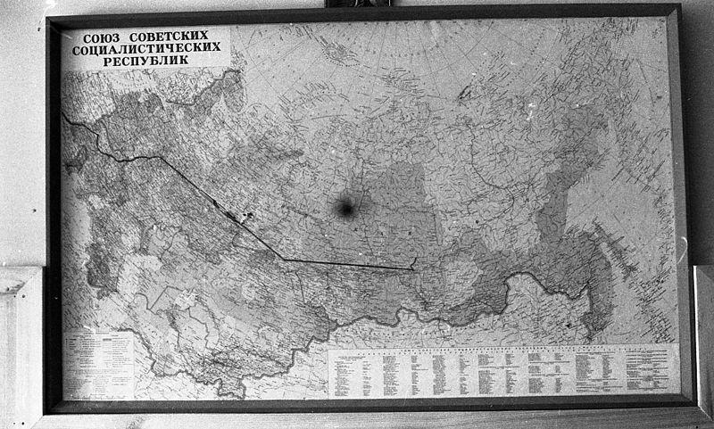 Antiguo mapa de la Unión Soviética