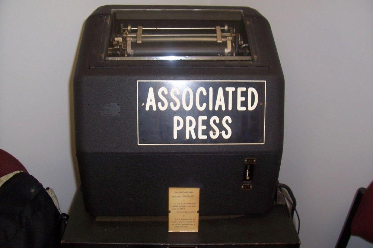 Antiguo teletipo de Associated Press