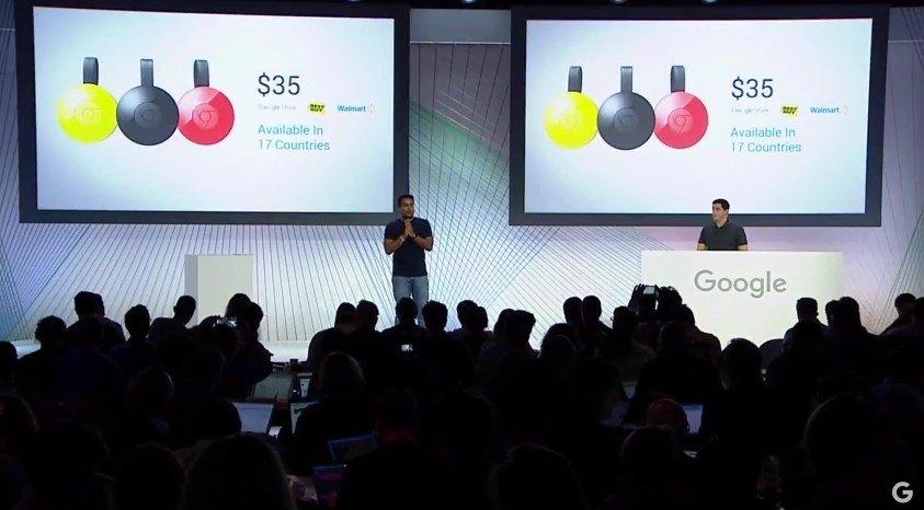 Anuncio del precio del nuevo Chromecast en el evento de Google