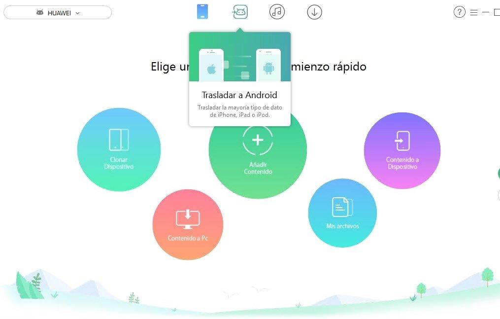 AnyTrans permite una sencilla transferencia de datos desde un iOS a un Android