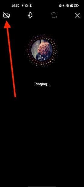 Apagar vídeo durante una llamada en Instagram