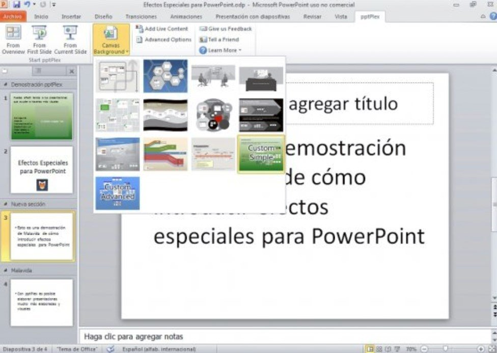 Aplica efectos especiales a tus presentaciones de PowerPoint
