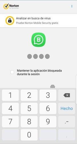 Aplicación bloqueada con Norton App Lock