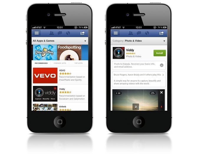 App Center de Facebook para iOS y Android