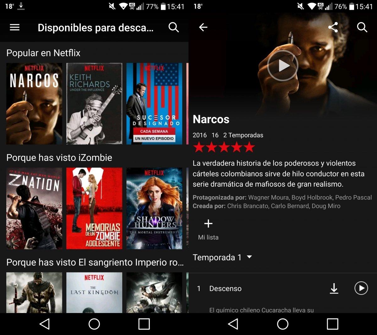 App de Netflix para Android