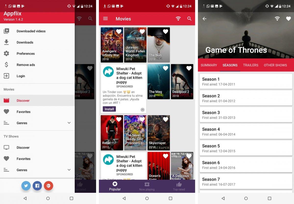 Appflix tiene películas y series gratis