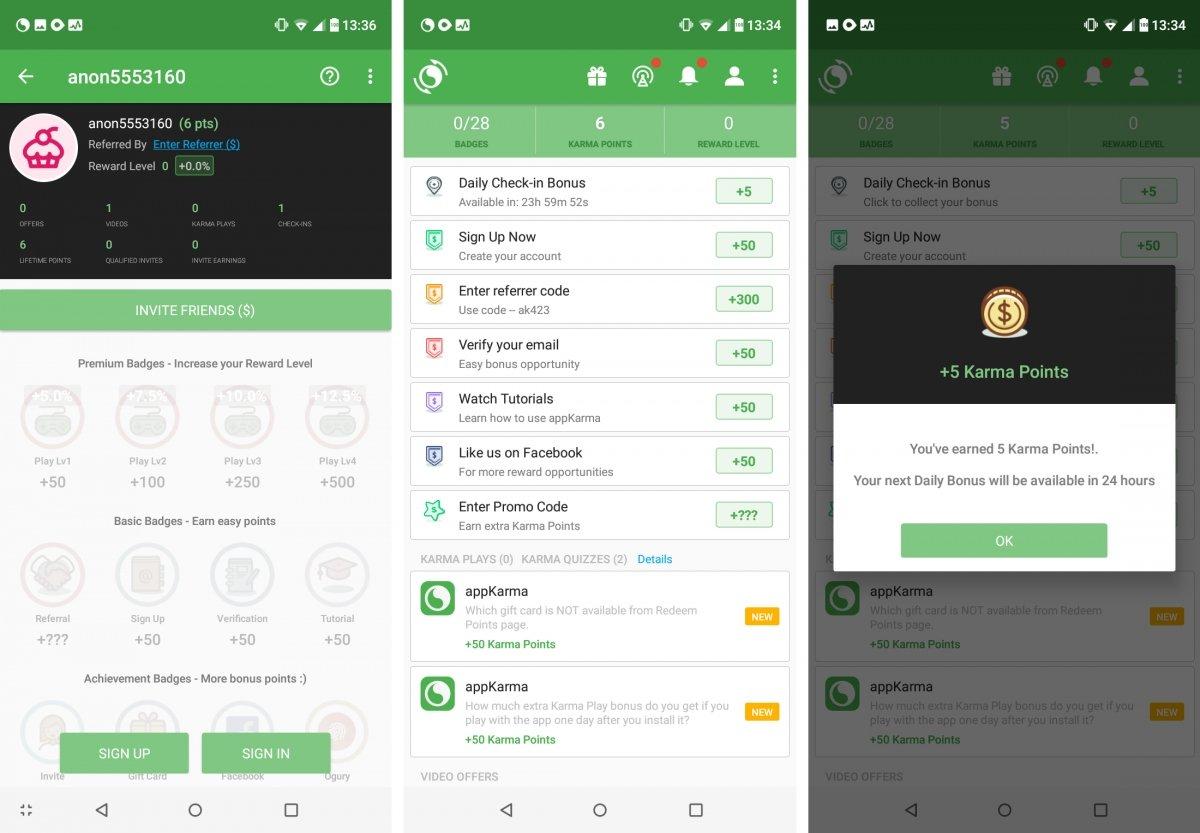 appKarma es muy popular para ganar dinero extra