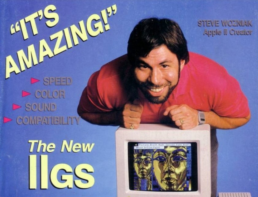 Apple IIGS creado por Wozniak en la revista inCider de octubre de 1986