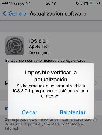 Apple retira iOS 8.0.1 por problemas de cobertura y Touch ID - imagen 2