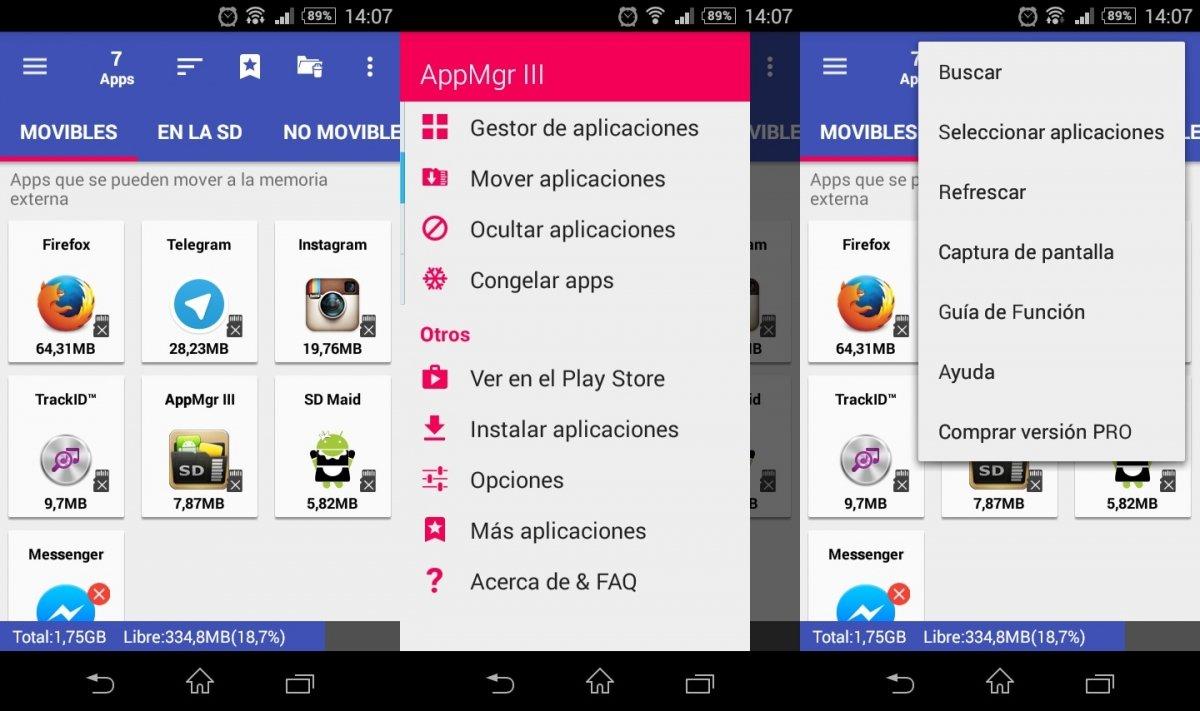 AppMgr III ayuda a mover aplicaciones a la tarjeta de memoria