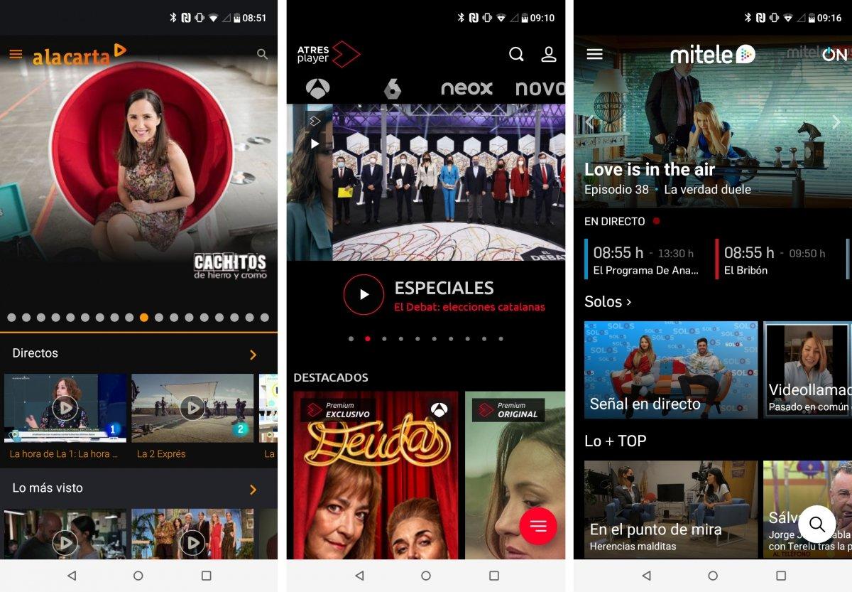 Apps de canales generalistas de la TDT