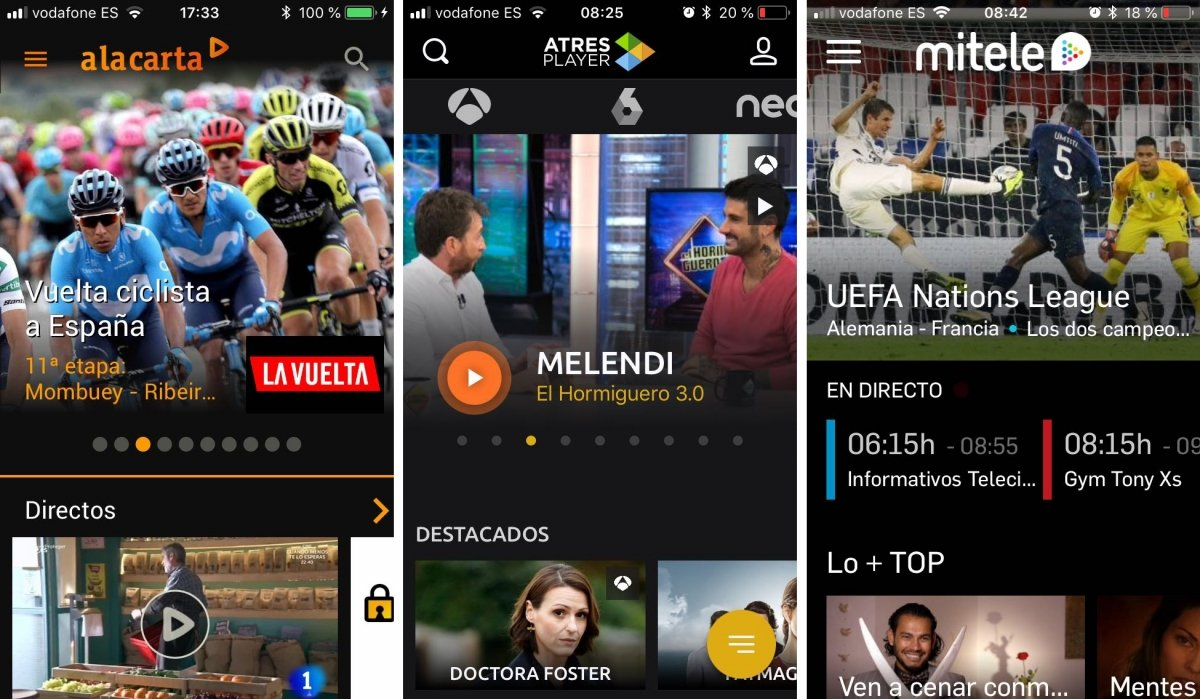 Apps de TV de España para Android