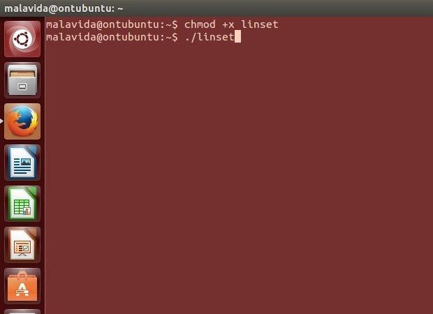 Arrancando Linset desde el terminal de Ubuntu