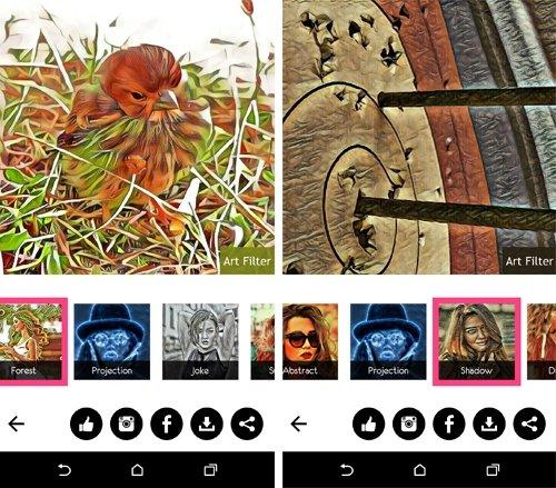 Art Filter da justo lo que promete: filtros artísticos.