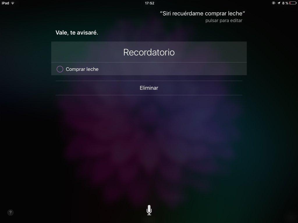 Así es como Siri crea recordatorios