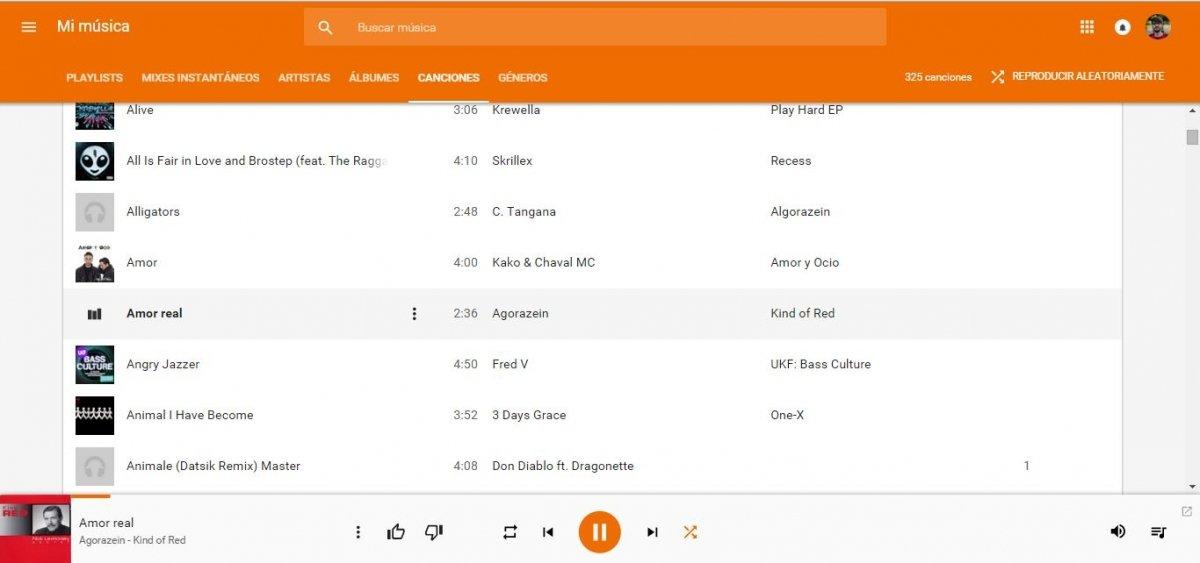 Así es Google Play Music en la web