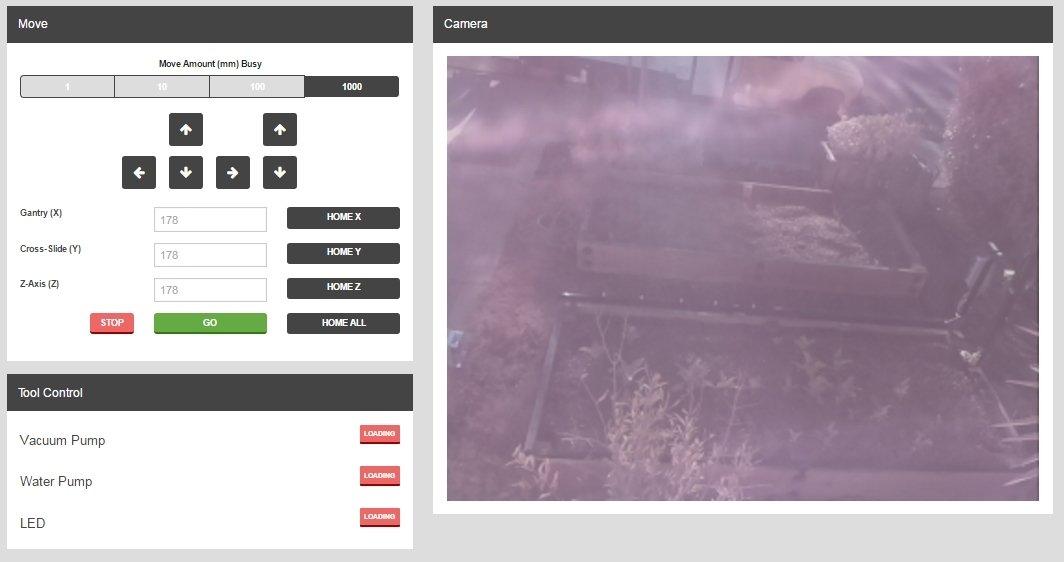 Así es la webapp de FarmBot