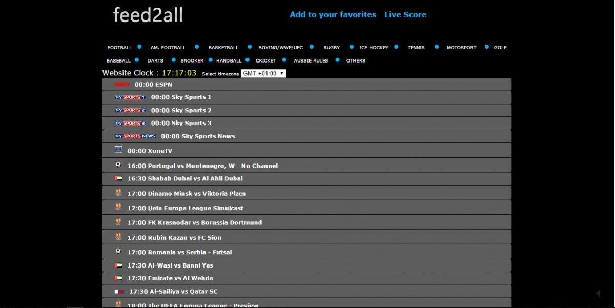 Así luce la página principal de Gofeed2all