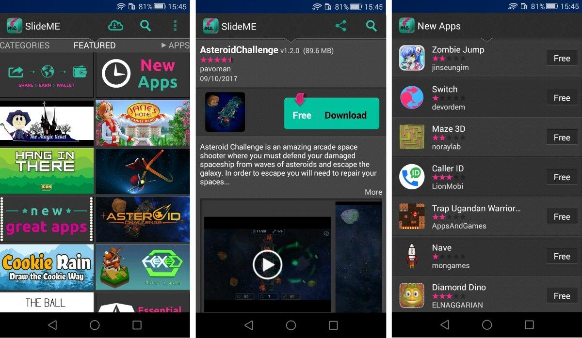 Asi lucen las apps en SlideME