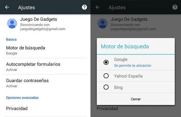 Así se cambia el buscador en Google Chrome