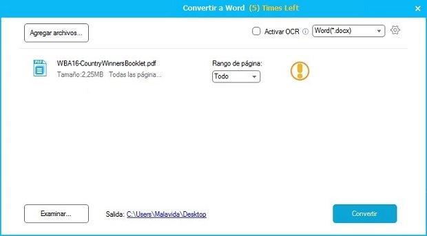 Así se convierte un archivo PDF a documento de Word