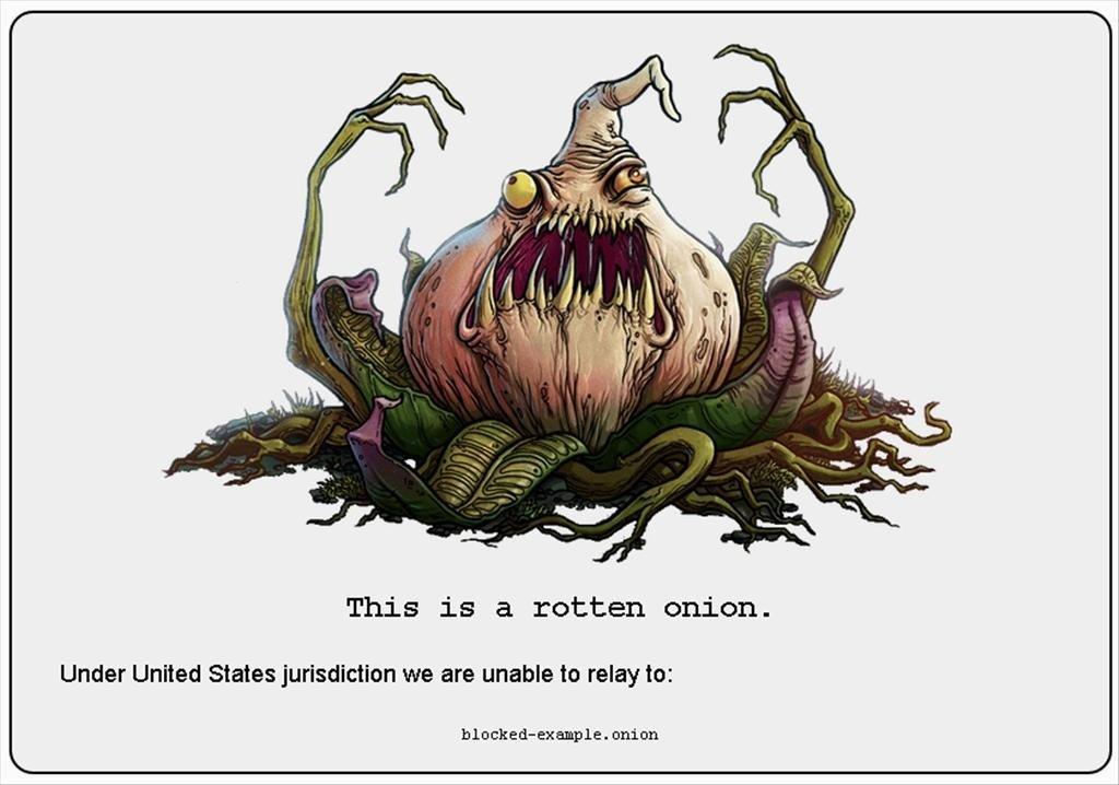 Aspecto de una web onion bloqueada en OnionCity
